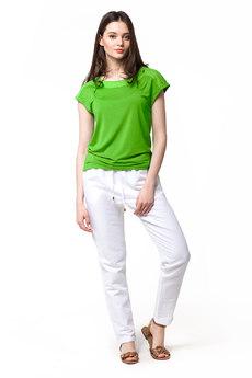 Белые льняные брюки Vilatte