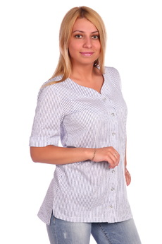 Хлопковая рубашка в полоску ElenaTex