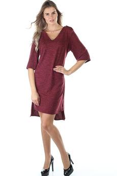 Бордовое повседневное платье Bast