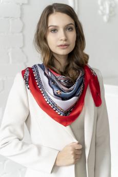 Новинка: платок женский сине-красный MYLIKE